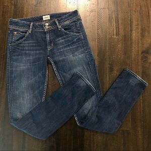 Hudson Collin Mid-Rise Skinny Jeans - Size 27